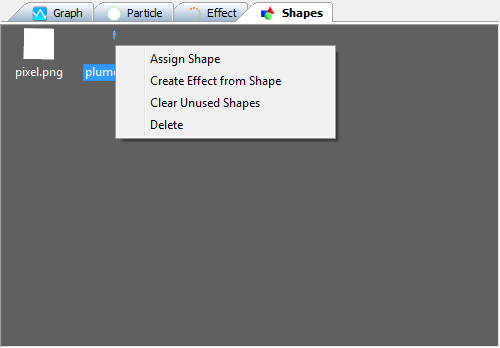 The Shapes tab