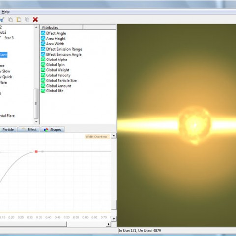 Total control of your effects can be achieved using graphs to plot particle behaviour