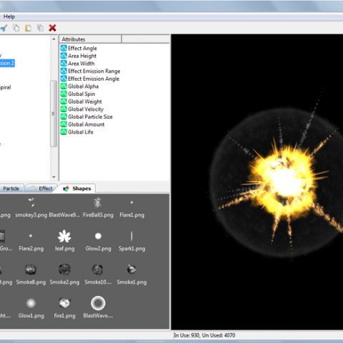 Import and use any number of particle shapes that you need