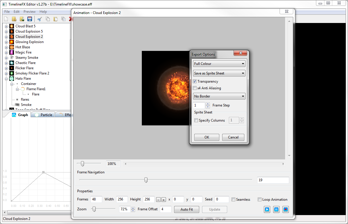 Export Onto Sprite Sheets,individual Frames, Image Strips Or As A Gif